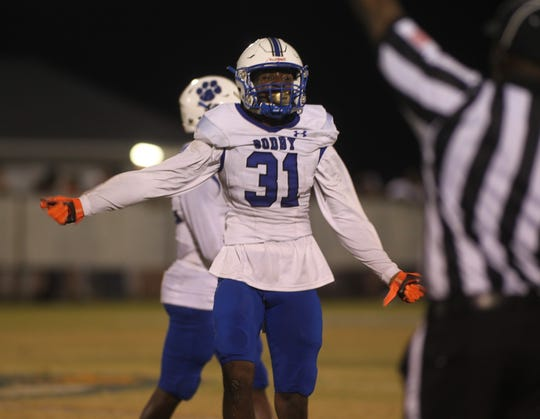 Godby defensive back Travis Cooper makes a tackle as Wakulla beat Godby 35-25 on Friday, Sept. 27, 2019.