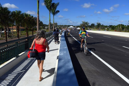 Community members were invited to take part in the celebration of the opening of the Walter B. England III Memorial Bridge on Saturday, Sept. 28, 2019 at the Crosstown Parkway Extension Project grand opening in Port St. Lucie.