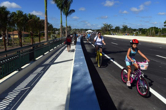 Community members were invited to take part in the celebration of the opening of the Walter B. England III Memorial Bridge on Saturday, Sept. 28, 2019 at the Crosstown Parkway Extension Project grand opening in Port St. Lucie. The project, first proposed in 1980, will provide the city its third bridge over the North Fork of the St. Lucie River. It will connect to the current terminus of Crosstown Parkway, on the west side of the river, to U.S. 1 at Village Green Drive. The bridge is named after Walter B. England III, a former city engineer who worked for the city for more than 20 years. The City Council named it in his memory in 2009.