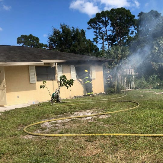 A fire damaged a home on Southeast Galleon Lane in Port St. Lucie on Spet. 27, 2019.