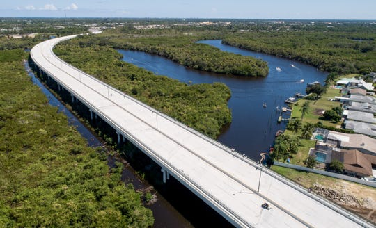 Drone photos show the Crosstown Parkway Bridge on its official opening Saturday, Sept. 28, 2019, in Port St. Lucie.