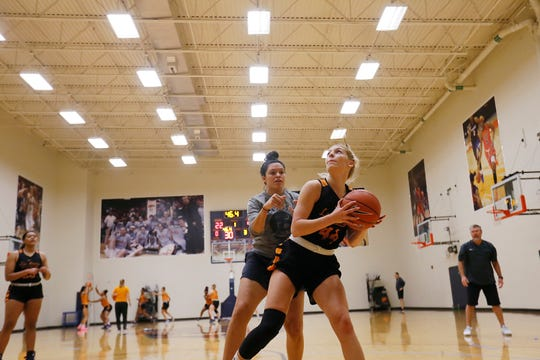 UTEP's Katarina Zec (44) during practice for the upcoming season Saturday, Sept. 28, at Foster-Stevens Basketball Center in El Paso.
