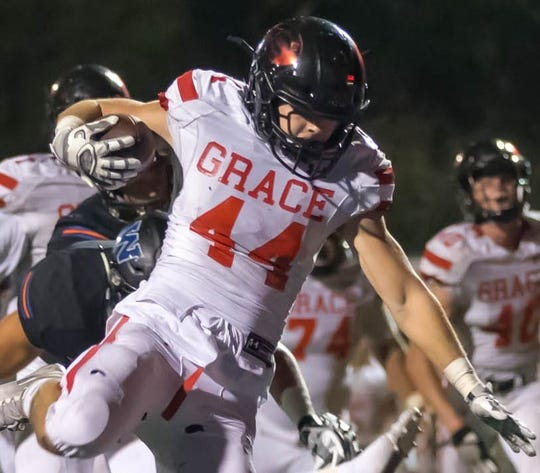 Josh Henderson had six touchdowns to help Grace Brethren outlast Westlake on Friday night.