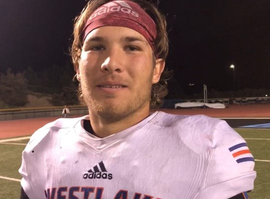 Marco Siderman set a Westlake single-game record for passing yards in Friday night's loss to Grace Brethren.