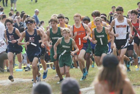 The start of the Boys Varsity II race at the annual Fred Gressler Run at White Plains High School Sept. 28, 2019.