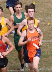 Horace Greeley's Joe O'Brien on his way to winning the Boys Varsity II race at the annual Fred Gressler Run at White Plains High School Sept. 28, 2019.