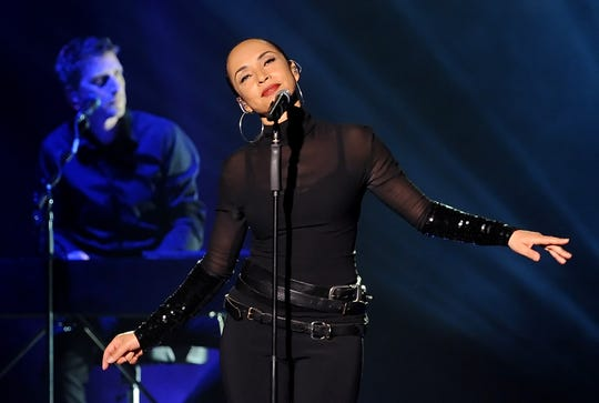 Nigerian-British singer Sade performs on stage at the O2 Arena in Berlin on May 13, 2011.