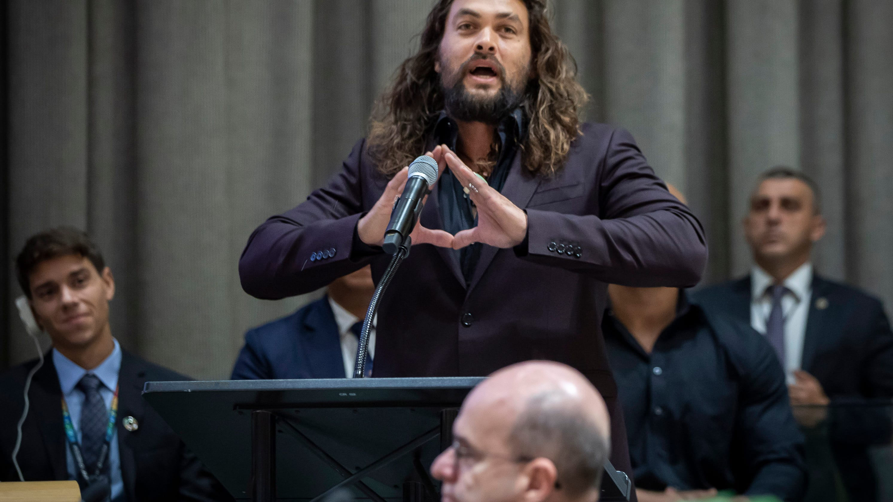 Iowa raised actor Jason Momoa addresses climate change in UN speech - Des Moines Register