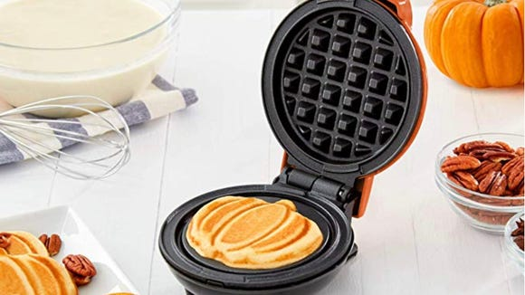 This waffle maker will help you get in the autumnal spirit.