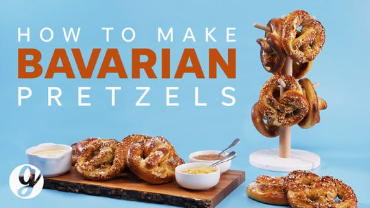 Oktoberfest Bavarian pretzels with beer cheese sauce: Get the recipe