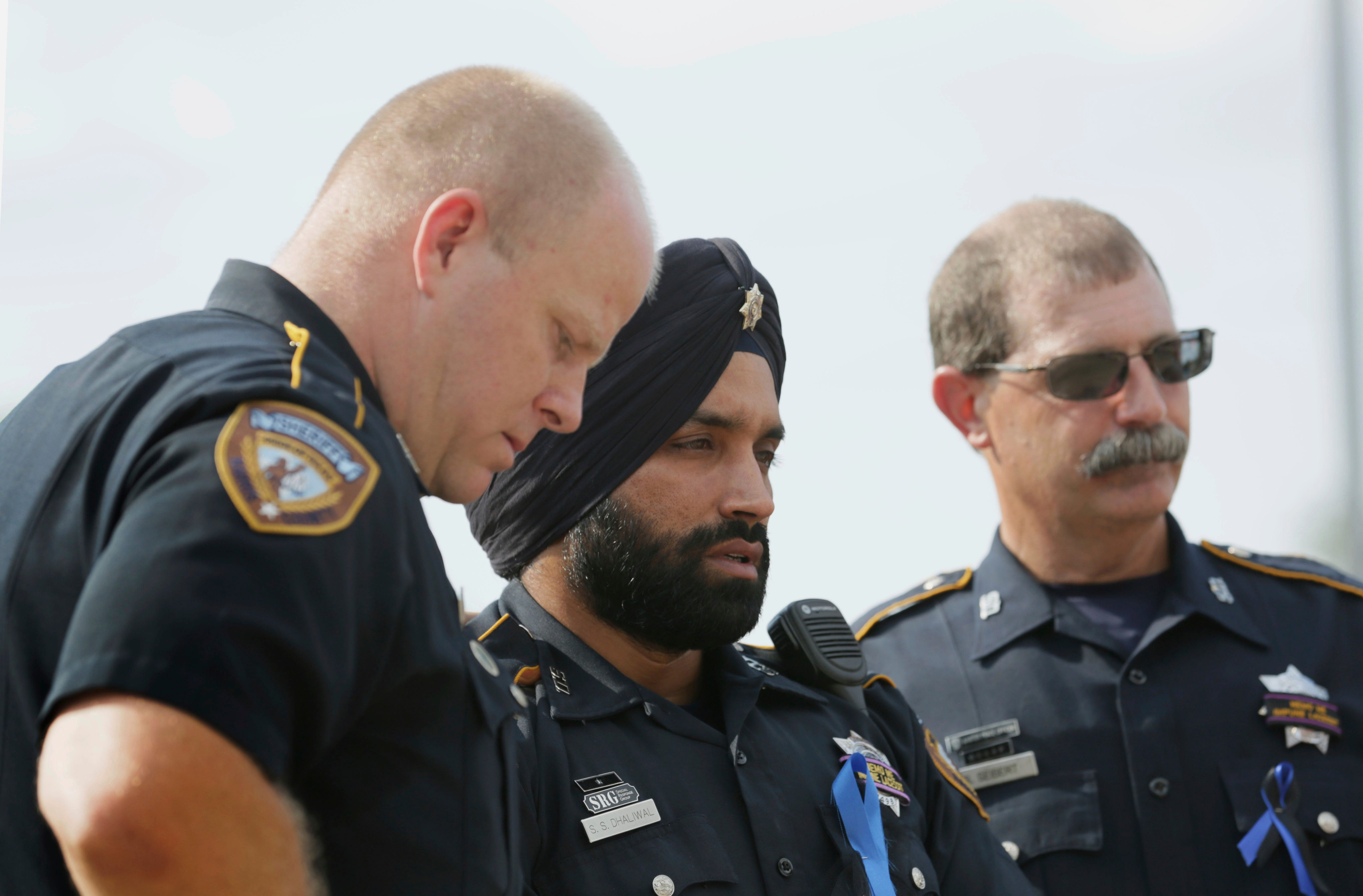 Trailblazing Texas deputy who was first local Sikh officer 'ruthlessly' killed during traffic stop
