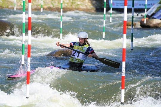 Evy Leibfarth, 15, of Bryson City, took fourth place Sept. 29 at the ICF Slalom Canoe World Championships in Spain, earning the U.S. its first-time slot for a slalom canoe at the 2020 Tokyo Olympics.