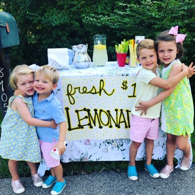 Hillary Weidner's family raised almost $10,000 for Cincinnati Children's Hospital after her post about her children's lemonade stand went viral.