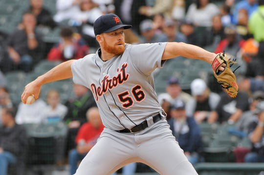 Tigers pitcher Spencer Turnbull throws against the White Sox during the first inning on Sunday, Sept. 29, 2019, in Chicago.