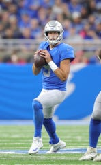 Detroit Lions quarterback Matthew Stafford passes against the Kansas City Chiefs during the first half Sunday, Sept. 29, 2019 at Ford Field.