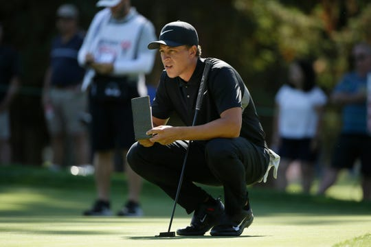 Cameron Champ looks over the sixth green during the Safeway Open.