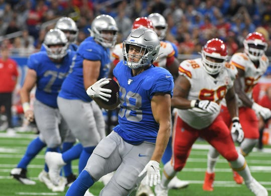 Lions tight end T.J. Hockenson