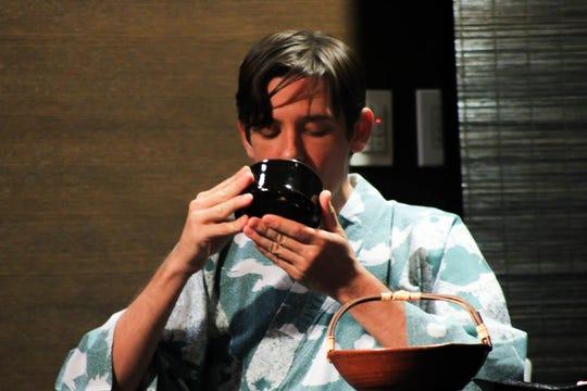 Ryan Sullivan at Center for Global Engagement during Japanese Tea Ceremony on Wednesday, September 25.