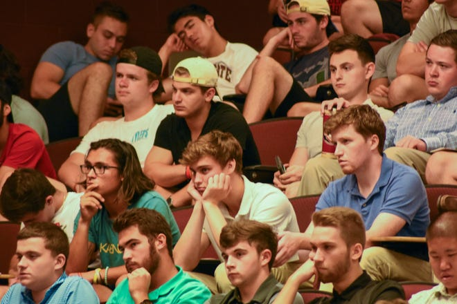 9/25/19 — Less than two years after Andrew Coffey's death, there seems to be little signs of regret on the bored and sleepy faces of FSU Greek life students.