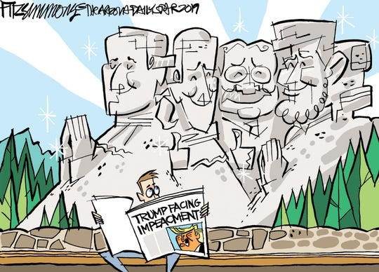 Mount Rushmore on impeaching Trump.