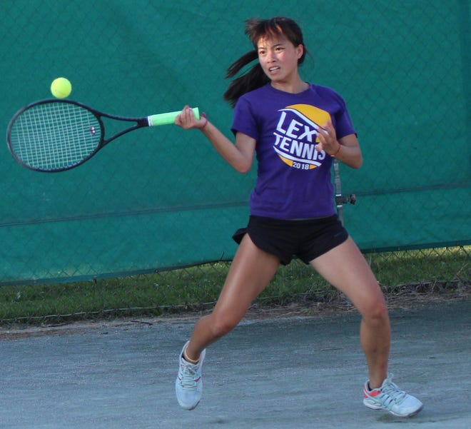 Lexington's Gracie Pfieffer returned to action last week after missing some time due to COVID-19.