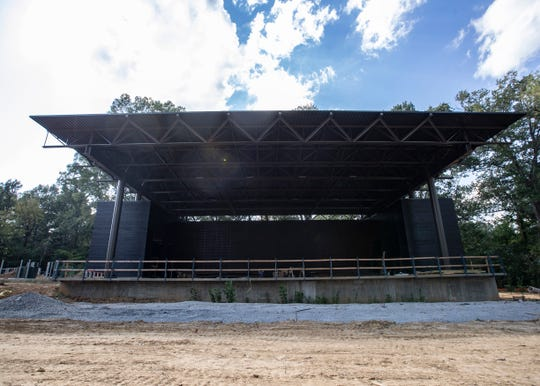 The Grove, the outdoor venue at the Germantown Performing Arts Center, is near completion, for the center's 25th season.