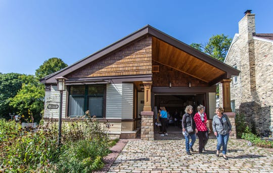Visitors tour the ultra-energy efficient Domus Matris home in Shorewood during the Doors Open Milwaukee event on Saturday, Sept. 28, 2019. This cutting-edge home is the only Certified Passive House (PHIUS+) building in Eastern Wisconsin and one of just two in the state.