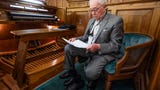 Joe Allen Turner talks about his 63 years as church organist at First Baptist Church in Wetumpka, Ala., on his last day.