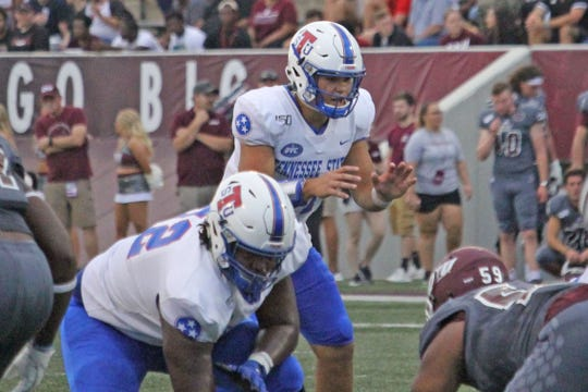 Quarterback Cameron Rosendahl struggled to get the Tennessee State offense going Saturday against host Eastern Kentucky.