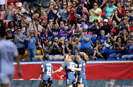 More than 8300 fans came to Red Bull Arena to see the Sky Blue FC v. Orlando Pride game. Sunday, September 29, 2019.