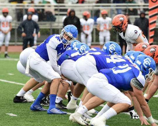 Detroit Catholic Central sophomore quarterback Declan Byle earns his first start for the Shamrocks. Detroit Catholic Central defeats Brother Rice 7-3 on Sept. 29.