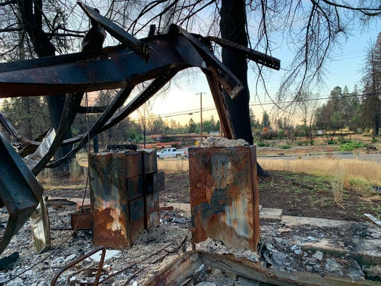 A church once stood at 1573 Billie Road in Paradise, Calif, but was fully destroyed by the Camp Fire in 2018. Nearly one year later in September 2019, the debris still not had been cleared.