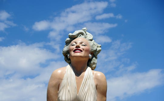 The 'Forever Marilyn' statue of actress Marilyn Monroe is seen in Palm Springs, California, on August 4, 2012, a day ahead of the 50th anniversary of Monroe's mysterious death.