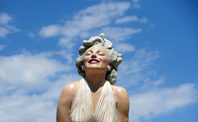 The 'Forever Marilyn' statue of actress Marilyn Monroe is seen in Palm Springs, California, on August 4, 2012.