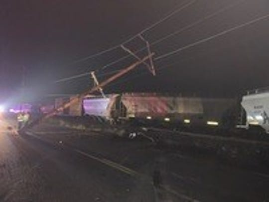 Nine cars operated by Portland and Western Railroad Management derailed early Sunday in the 9500 block of River Road NE.