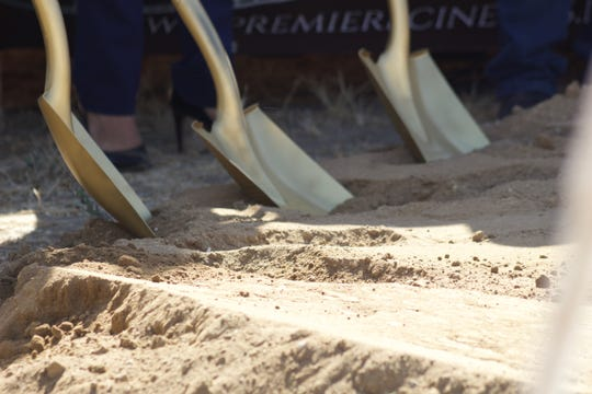 Officials broke ground for a new Premiere Cinemas 8-screen theater in Soledad Sept. 28, 2019.