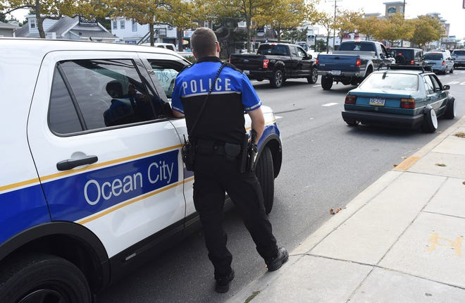 OCPD pulled over this car after a camber violation at the unofficial H2Oi event in Ocean City Sunday, September 29, 2019. According to police the owner faces about a $420 fine and a $350 tow bill.