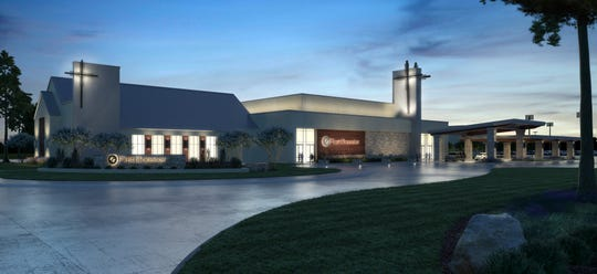 An artists' rendering of the new building to be built at First Bossier.