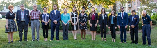 The 2019 scholarship recipients for FSU College of Medicine are Blaire Cote, Laura Ann Marie Davis, Shelby De Cardenas, Chase Forehand, Jacqueline Hanners, Laken Johnson, Samantha Mahon, Caneisaya Matthews, Christopher Pope, and Lauryn Reid.