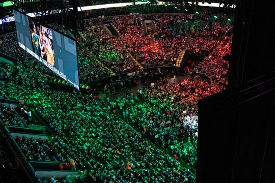 Sep 29, 2019; Philadelphia, PA, USA; General view during the Overwatch League Grand Finals e-sports event at Wells Fargo Center.