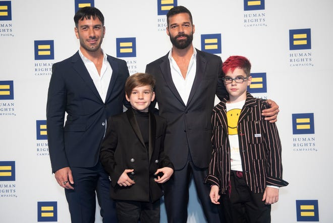 Ricky Martin announced at the annual Human Rights Campaign National Dinner that his family was expanding to four children.