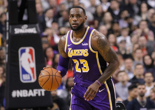 Lakers forward LeBron James is entering his second season in Los Angeles.