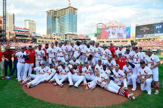 The cardinals will face the Braves in the NLDS.