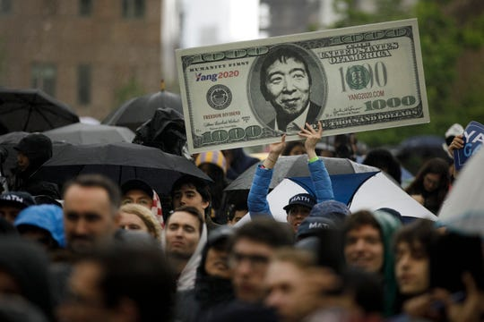 A rally on May 14, 2019, in New York City.