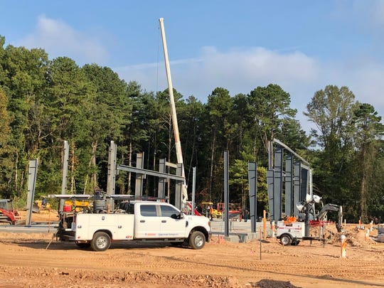 H&E Equipment Services is erecting a new building off Hendersonville Road in Arden. It should be finished in December.