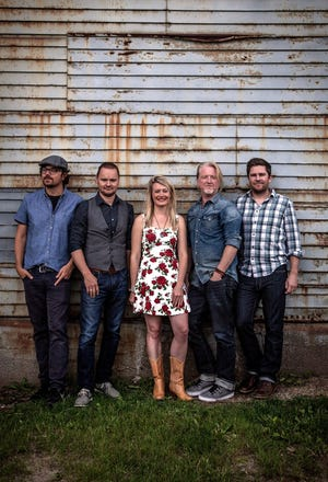 Gaelic Storm are (from left) Ryan Lacey, Patrick Murphy, Katie Grennan, Steve Twigger and Peter Purvis.