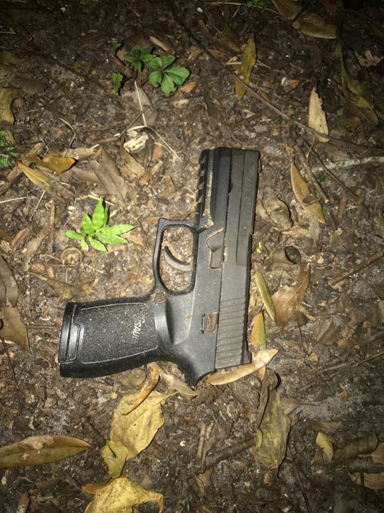 Cocoa police say Dana King was carrying this handgun when he was arrested Sunday night.