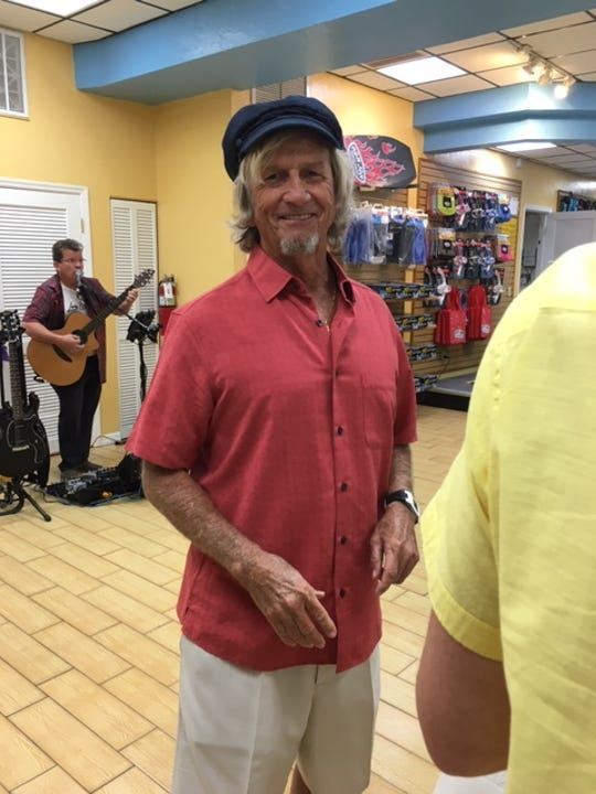 Veteran surfer Bob Freeman attended the Florida Surf Museum's Big Board Show 2 earlier this year at the Ron Jon rental store in Cocoa Beach.