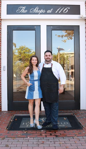Stacy and Chef David Murray stand out in front of The Shops at 116 on Kings Highway in Haddonfield. Their scratch kitchen restaurant Denim BYOB is opening there Tuesday after moving from Cherry Hill.