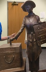The committee commissioned a sculpture by Roy Butler, using authentic artifacts from the Customs House Museum and nicknamed it Tennessee Triumph.  It depicts all Clarksville women who worked for suffrage and voted in their first Presidential election in 1920. The unveiling is scheduled for Aug. 15, 2020.